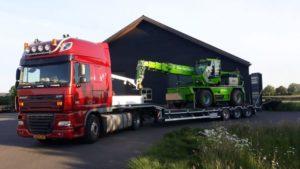 Combinatie Vrachtwagen Verreiker